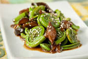 fiddleheads and shiitake
